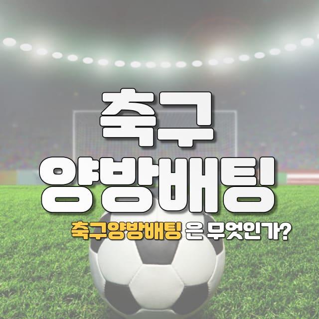 축구양방배팅