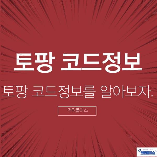 토팡 코드정보